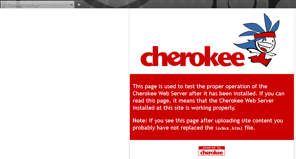 The Cherokee server test page